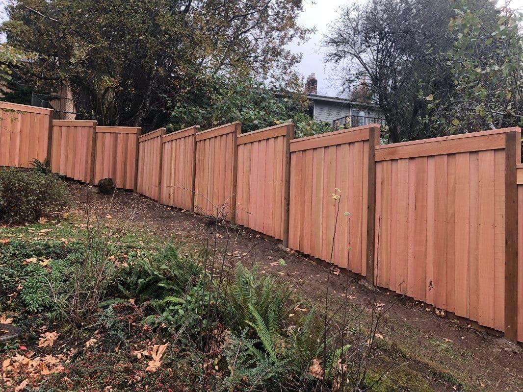 fence on steep hill