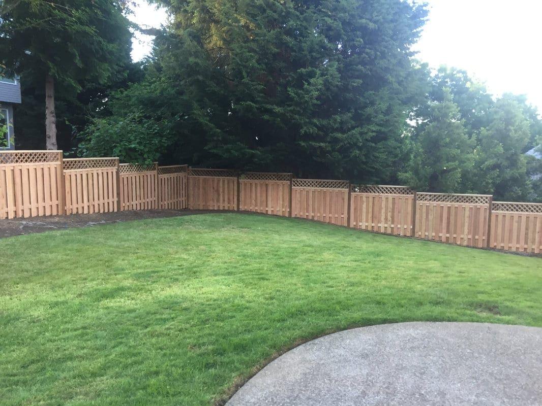 lattice top fence