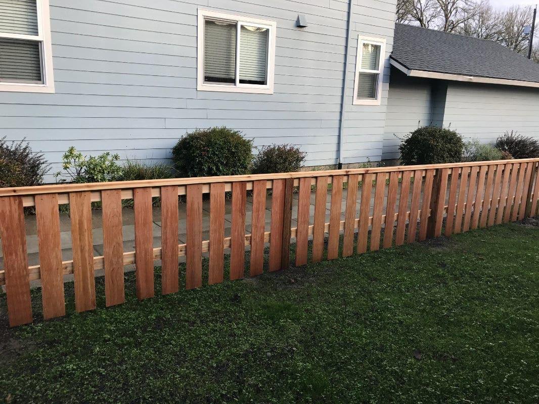 low cedar fence
