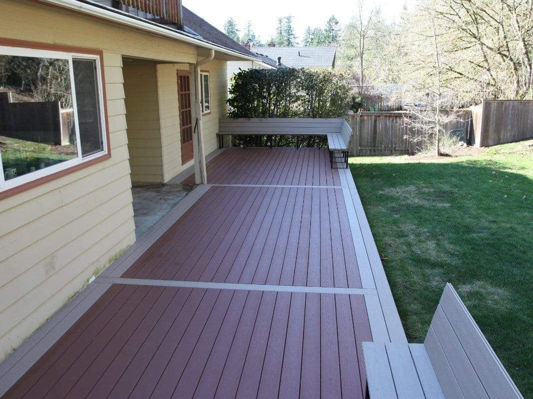 multi colored composite deck