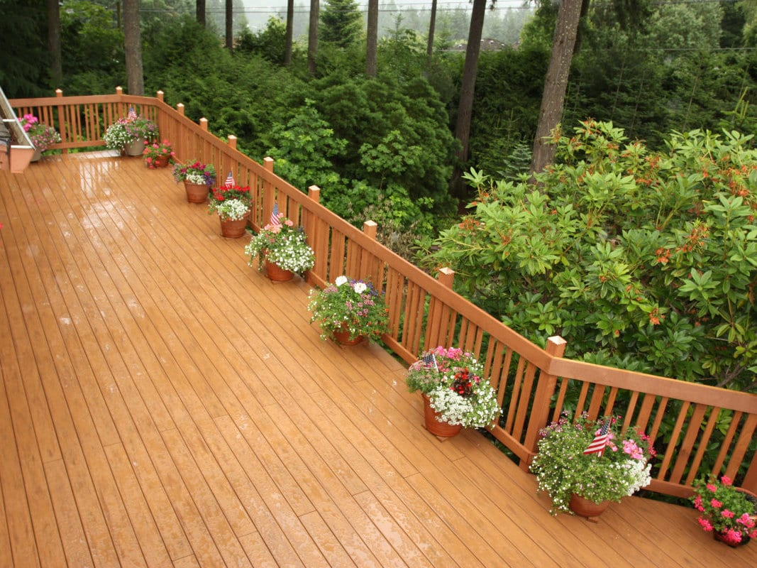 large attractive deck