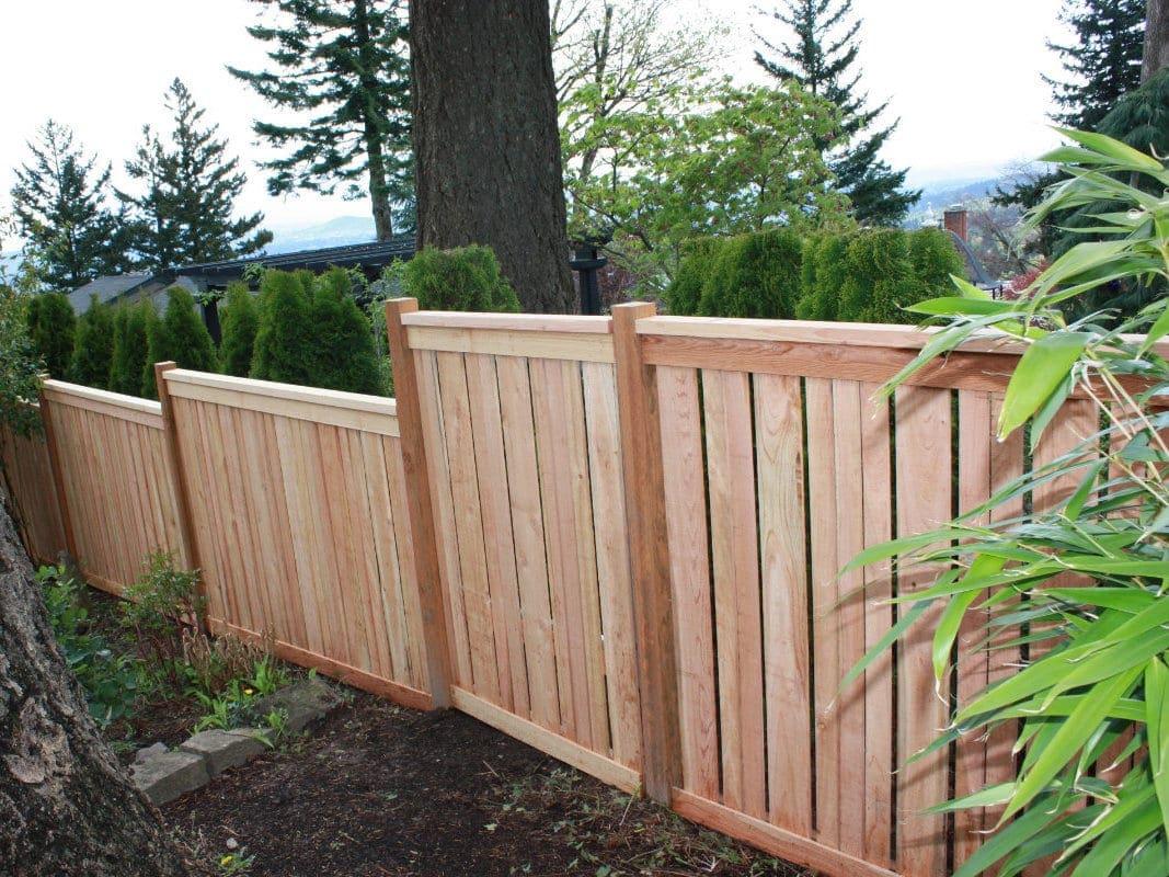 top rail cedar fence