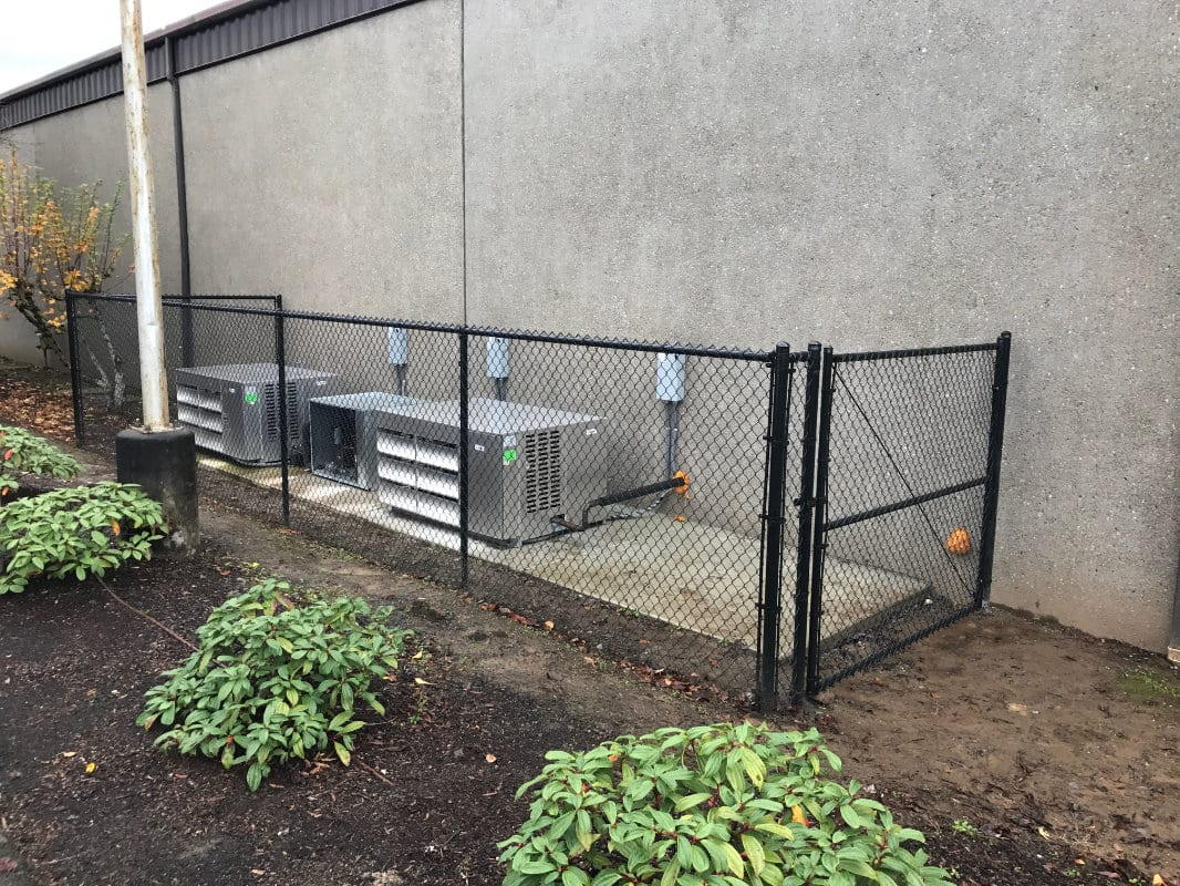low chain link fence